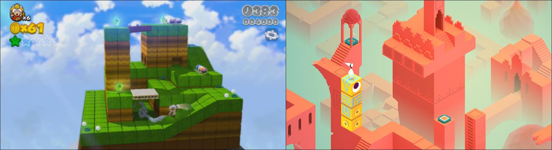 Captain Toad and Monument Valley